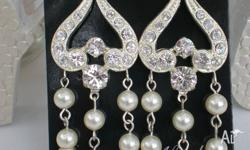 Lovely custom made Swarovski ivory/cream coloured pearl