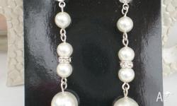 3 pairs of Lovely custom made Swarovski pearl and