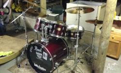 "Pearl Export Drum Kit Dark Red/Burgundy 22"" Base Drum"