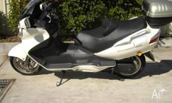 great touring bike,many extras.givi box,extended wind