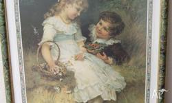 "PEARS PRINT, ""SWEETHEARTS"" by Frederick Morgan. 1980""s"