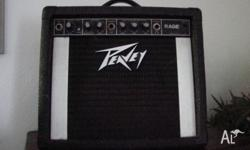Available for purchase is a Peavey guitar amp. Used but