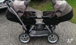 A top of the line peg-perego duette sw twin pram. Made