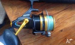 Penn Surf Combo Spinfisher 950 ssm spooled with 30lb