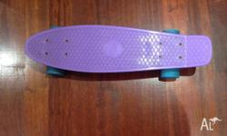 i am selling a hardly used purple penny skateboard with