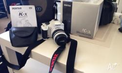 For sale is my be loved Pentax K-x SLR camera which is