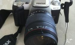 Excellent condition Pentax MZ-50 + Sigma 28-300mm macro