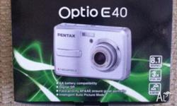 Pentax Optio E40 camera - 8.1mb camera - 2.4inch