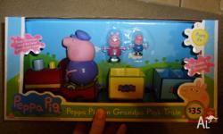 Peppa Pig train with characters, grandpa pig doesn't