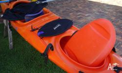 Perception Contour Sea Kayak 4,5m long. Adjustable