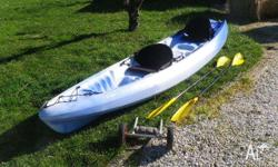 Perception Tribe double sit-on plastic kayak in good