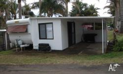 Millard 23ft onsite caravan, annex with awning located