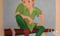 Beautiful Peter Pan, big size 50x70, with a sparkle