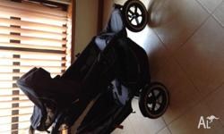 Good condition the stroller is easy to get around and