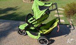Sports Phil and Teds Pram. Comes with: * Toddler seat