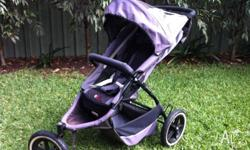 Phil and Teds Pram - grey. Used and in good working