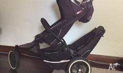 Double pram in good condition Comes with 2nd seat,