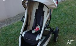 Phil and Teds pram with extra seat, raincover, suncover