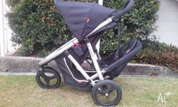 Phil & Teds Vibe Double Seat Stroller, package comes