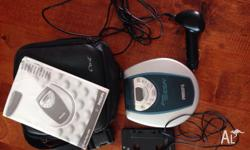 Phillips Portable CD player. Includes Case, earphones,