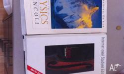 Two textbooks for sale. Physics Giancoli - 6th edition,