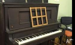Schultz Piano, Made in Chicago, works well, complete