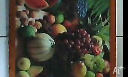 fruits picture in quality wooden frame,98cm x 68cm.