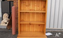 YOU ARE LOOKING AT A PINE BOOK CASE WITH A LARGE DRAWER
