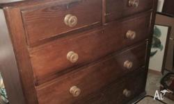 A much loved, chest of drawers; good condition. I've