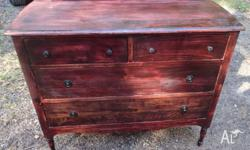 Pine dressing table with two top drawers and two larger