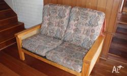 pine family room setees. 1- two seater and 2 - single