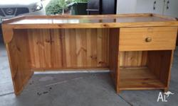 This desk is solid pine. length 1.52mt depth 590cm high