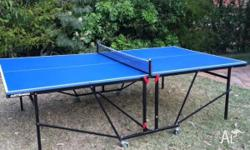 Foldaway ping pong table purchased in China. Includes