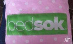 The bedsok is a sleeping bag for beds. It features an