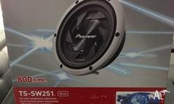 FOR SALE 2 BRAND NEW PIONEER 10 INCH SUBWOOFER ,