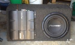 PIONEER SUB AND AMP GREAT CONDITION