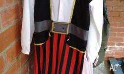 I am offering a pirate costume. It is one pice plus a