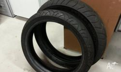 $100 for both! Pirelli Sport Demon tyres. 100�80-17