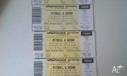 I have 5 pitbull and ke$ha tickets for sale $100 each
