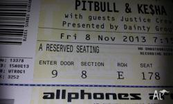 Selling 4 x A RESERVED SEATING tickets. Friday 8th Nov
