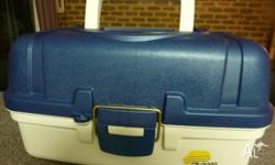 NEW PLANO TACKLE BOX WITH TWO TRAYS AND BASE FOR