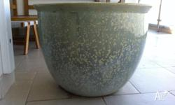 Pair of matching Ceramic plant pots Large one 75cms