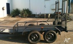 PLANT TRAILERS DUEL AXEL TRAILER EXTENED DRAW BAR,