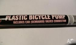 Plastic Bicycle Pump, please see the pictures easy to
