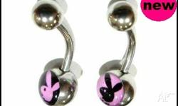 PLAYBOY BELLY BAR SET $6.95 POSTAGE INCLUDED COLOURS: