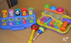 In fab condition, playskool toy as well as bruin hammer