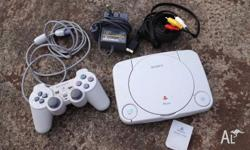 PSone in excellent condition with controller and memory