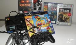 FOR SALE PLAYSTATION 2 CONSOLE, 2 CONTROLLERS, 2 MEMORY