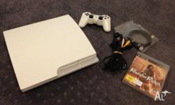 Up for sale is a RARE Slim WHITE PlayStation 3 320gb.