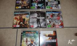 8 ps3 games all in excellent condition no scratches $15